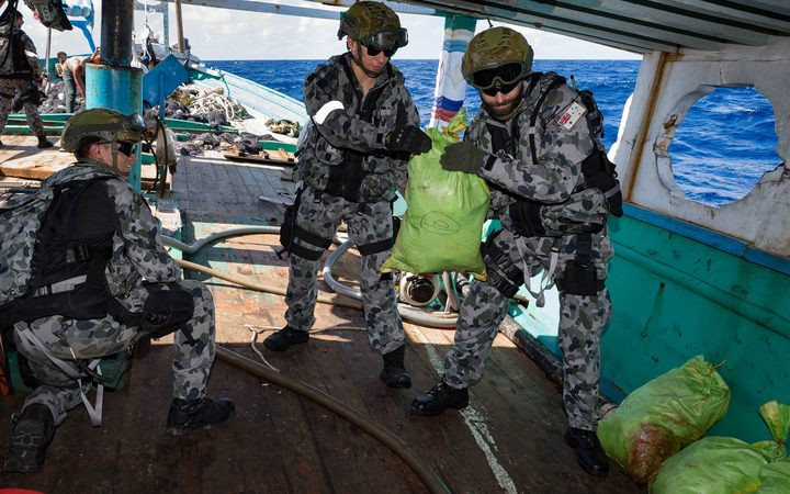 A Royal Australian Navy boarding party seized 250 kilograms of heroin from a ship off the coast of Tanzania on Wednesday.