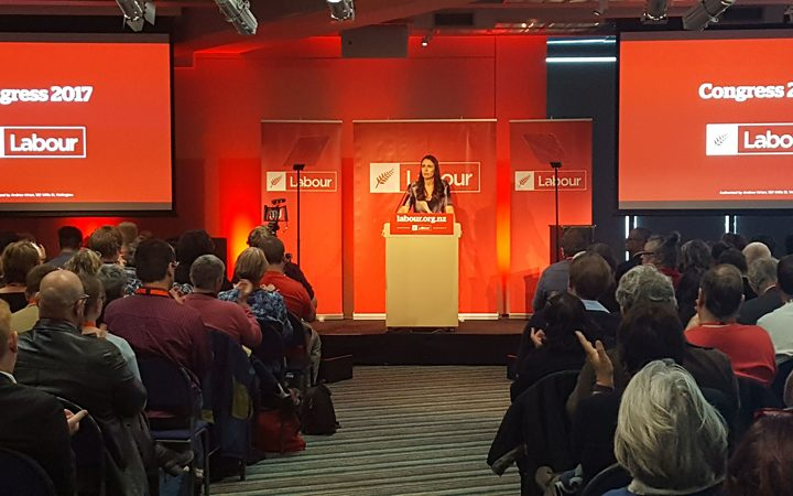 Labour deputy leader Jacinda Ardern speaks at the party's election year congress.