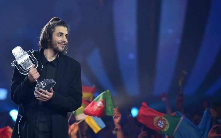 Salvador Sobral won the 2017 Eurovision Song Contest with the song 'Amar Pelos Dois' ('Love for both of us').