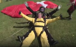 Verdun Hayes has become the oldest ever skydiver at 101 years and 38 days old.