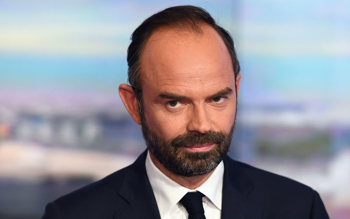 France's newly appointed Prime Minister Edouard Philippe poses prior to taking part in the evening news broadcast of French TV channel TF1.