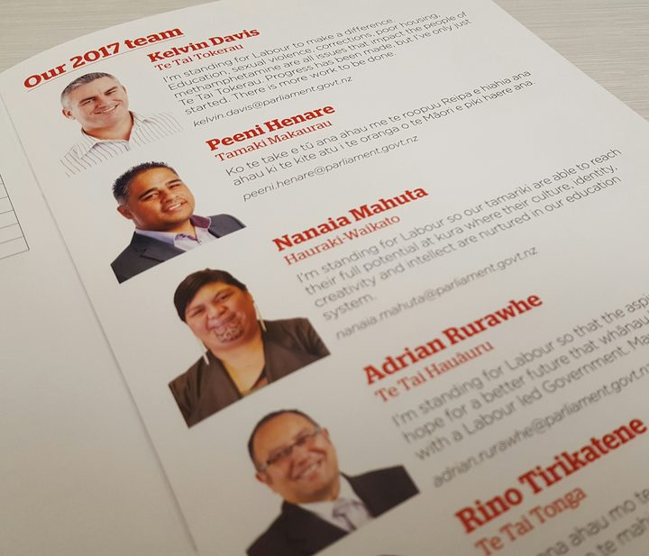 Labour's Māori MPs featured first in the list of the 2017 caucus team in the party's congress booklet.