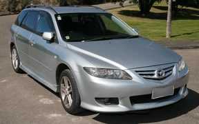 The Silver Mazda 6 which police are seeking over the death of Lois Tolley.