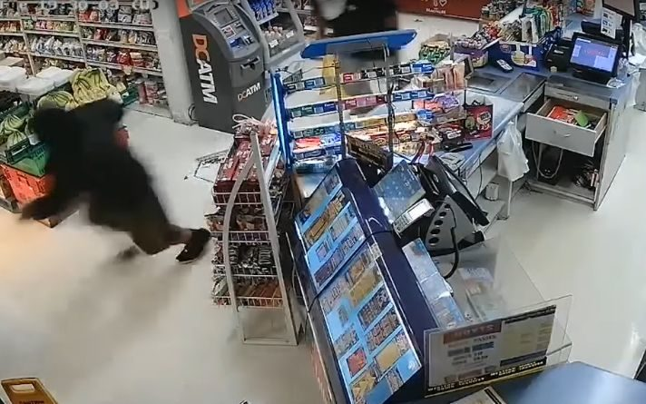 CCTV footage released by police of the robbery at the Kingsford Supermarket in Mangere.