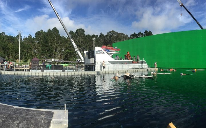 The water tanks at the film studio where Meg was filmed in Kumeu, Auckland.