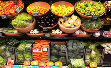 Cheaper fruit and vegetables helped bring down food prices.