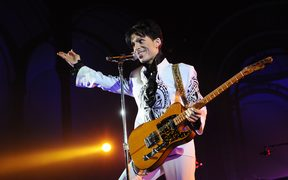 Prince onstage in France in 2009.