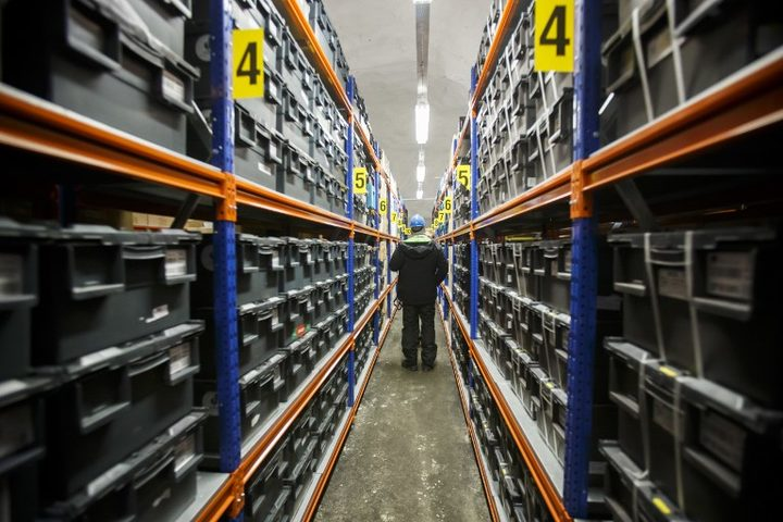 Boxes with seeds from around the world are saved for posterity in the seed vault in Svalbard