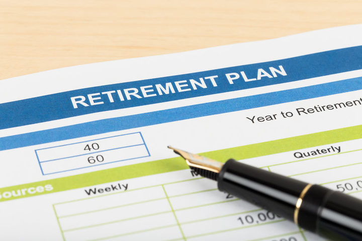 Retirement plan sign