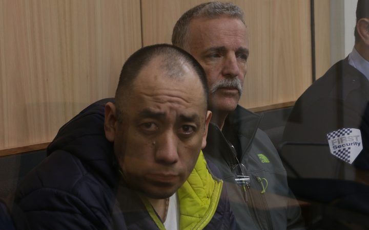 From left: Agustin Suarez-Juarez and Ronald Cook Snr on trial at the High Court in Auckland accused of importing cocaine and possession of cocaine for supply.