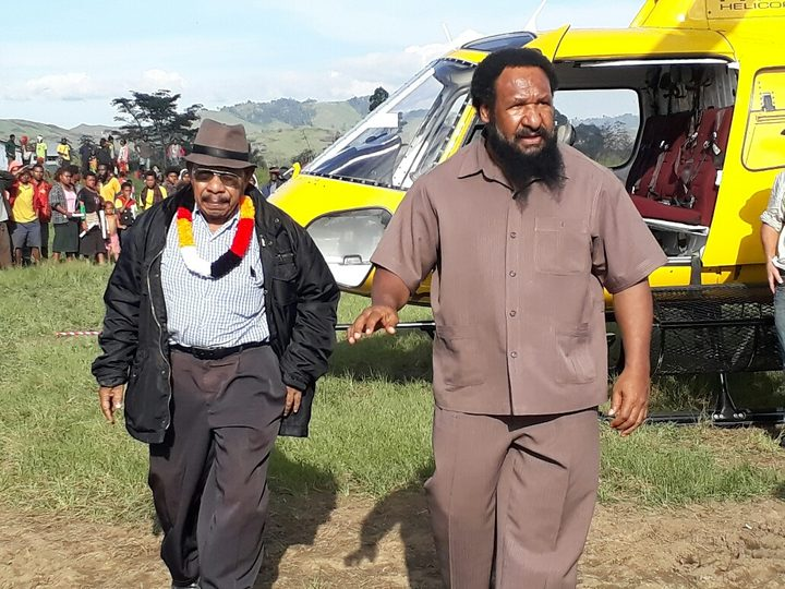 Don Polye (right) on the PNG election trail