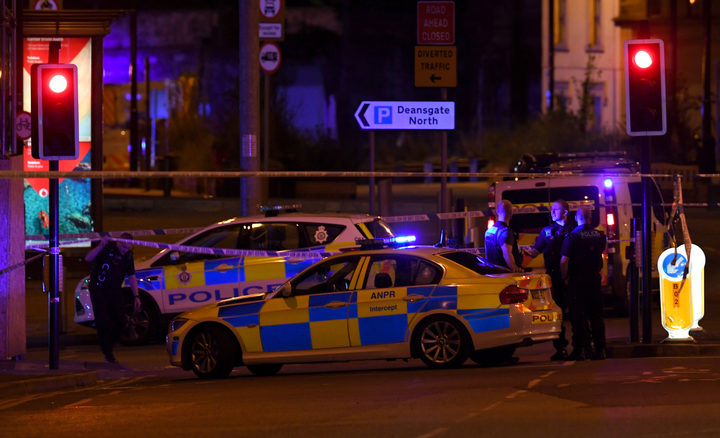 Police deploy at scene of explosion in Manchester