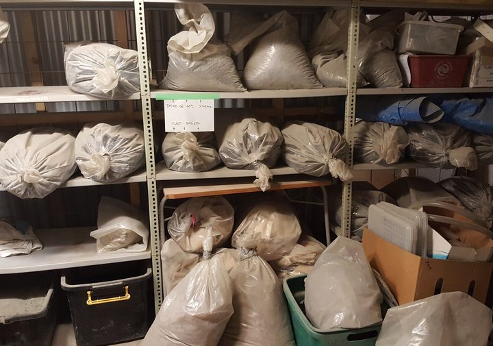 Bags of ash in the Ash Lab