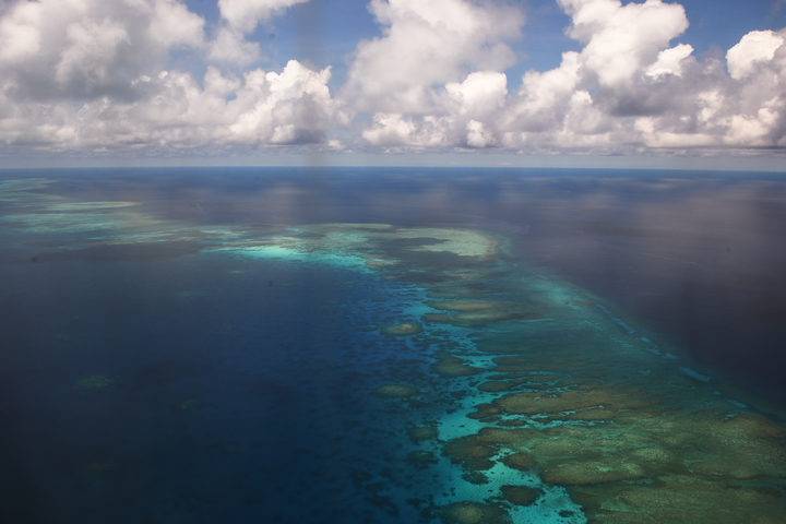 Mischief Reef in the South China Sea, claimed by China, Taiwan, Vietnam and the Philippines.
