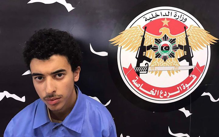 A photo released on the Facebook page of Libya's Ministry of Interior's Special Deterrence Force claims to show the brother of Manchester bombing suspect Salman Abedi, Hashem.