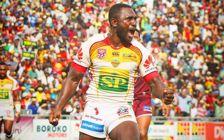 PNG Hunters captain Ase Boas.