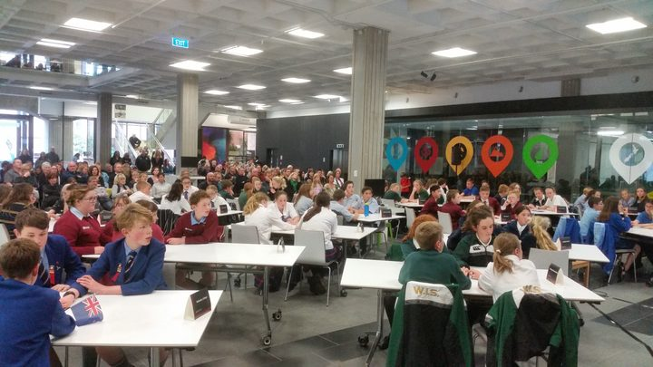Sixty-four children with fingers at the ready battle it out in the Kids' Lit Quiz.