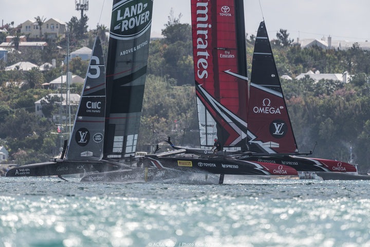 New Zealand capsize in America's Cup semi, crew safe