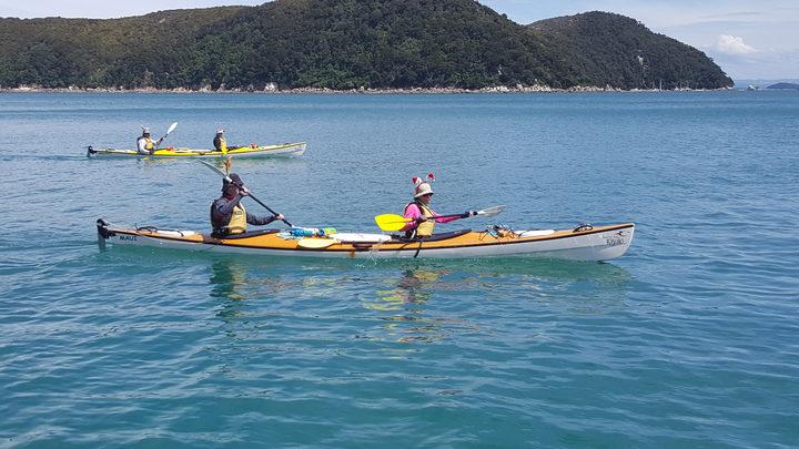 Kayakers near Adele IslandPhoto/ Tracy Neal