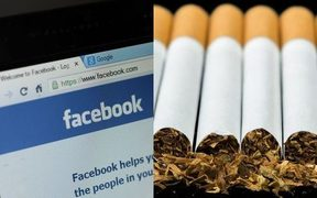 Composite picture of Facebook and Cigarettes