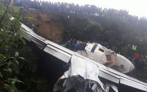 The Goma Airlines cargo plane crashed near Tenzing Hillary airport in Lukla.