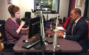 Andrew Little speaks to Susie Ferguson in the Wellington studio.