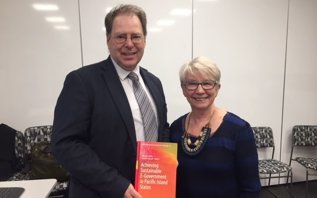 Graham Hassall and Rowena Cullen, editors of the book 'Achieving Sustainable E-government
