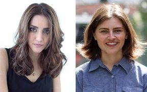 Golriz Ghahraman, left, and Chloe Swarbrick.