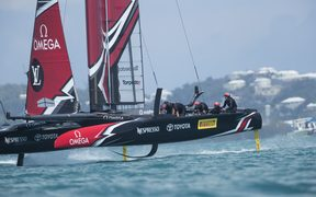 Emirates Team New Zealand skippered by Peter Burling at the 35th America's Cup on Monday 29 May.