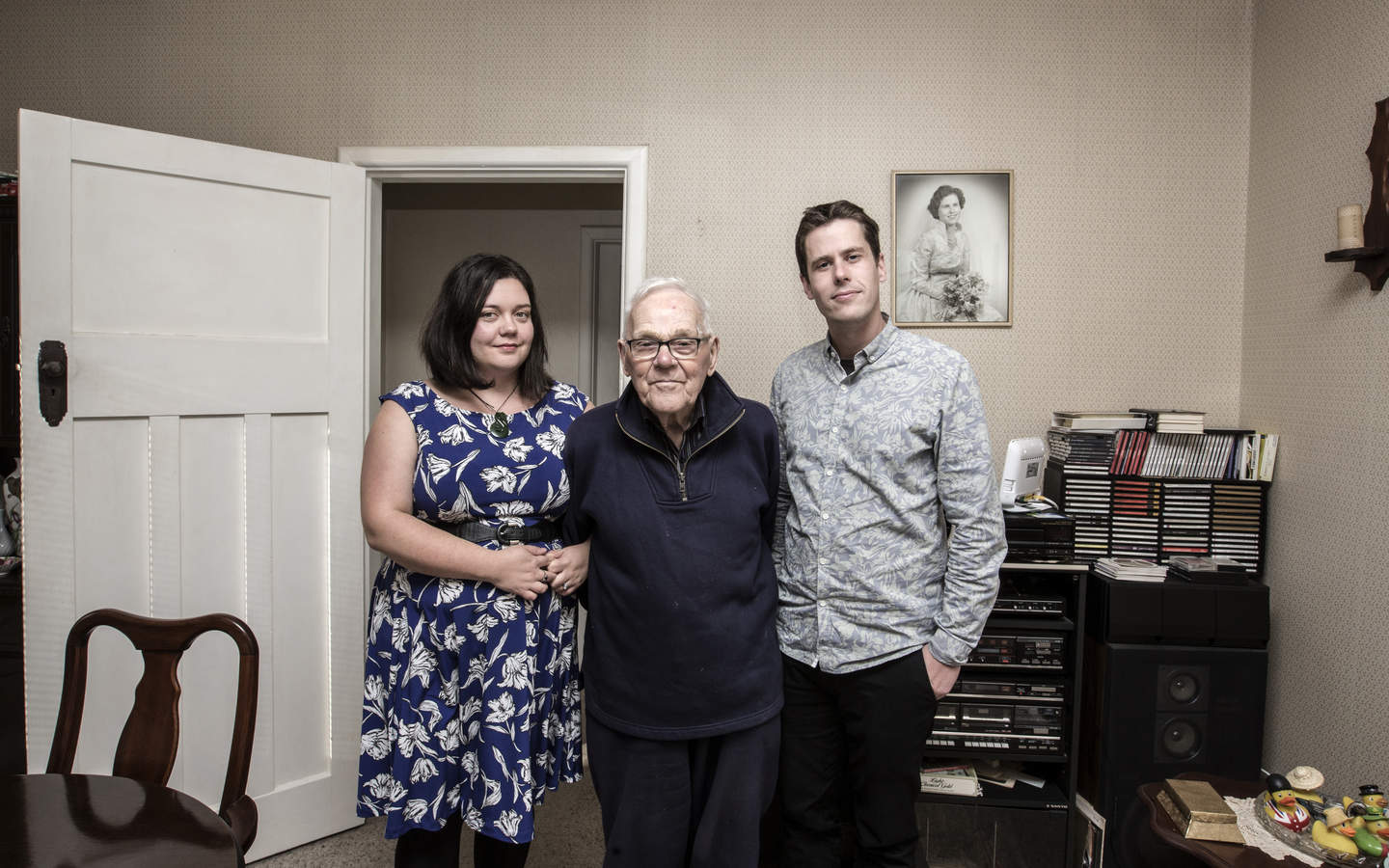 Georgia and Joseph Van Gessel moved in with Georgia's grandfather Bob McKay after struggling for years to buy a house