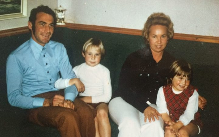Deanna Trevarthen when she was a child, right, with her family.