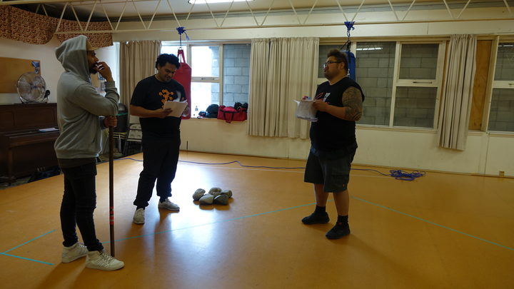 The Riverside Kings actors during rehearsal.