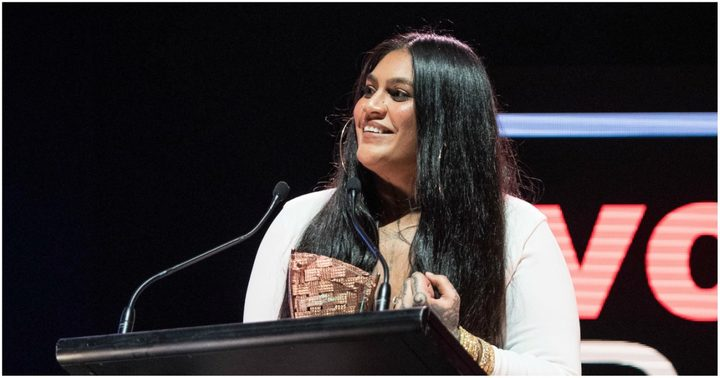 Aaradhna accepting one of her four awards.