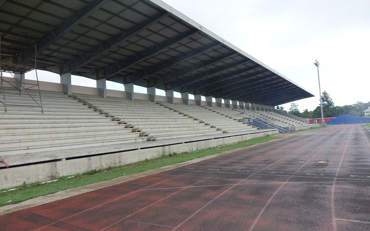 Looking to the main stand at Teufaiva