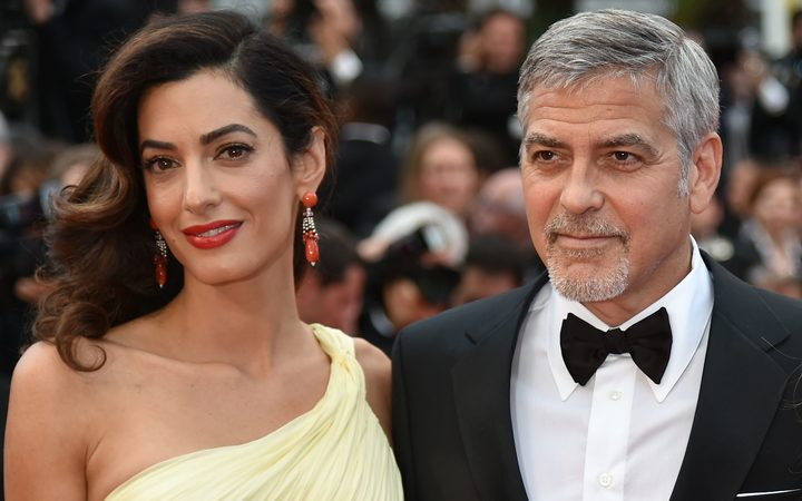 George and  Amal Clooney at the Cannes Film Festivalin 2016.