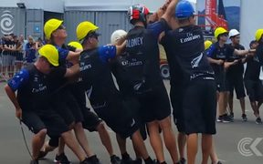 Team NZ desperately trying to repair catamaran: RNZ Checkpoint