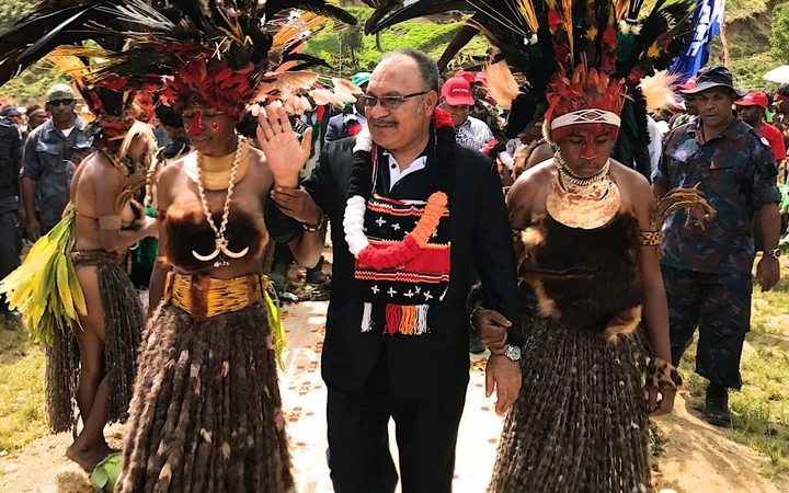 Papua New Guinea Prime Minister Peter O'Neill on the election campaign trail in Chimbu Province.