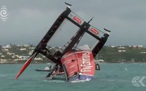 Team NZ boat down to one wing after crash: RNZ Checkpoint