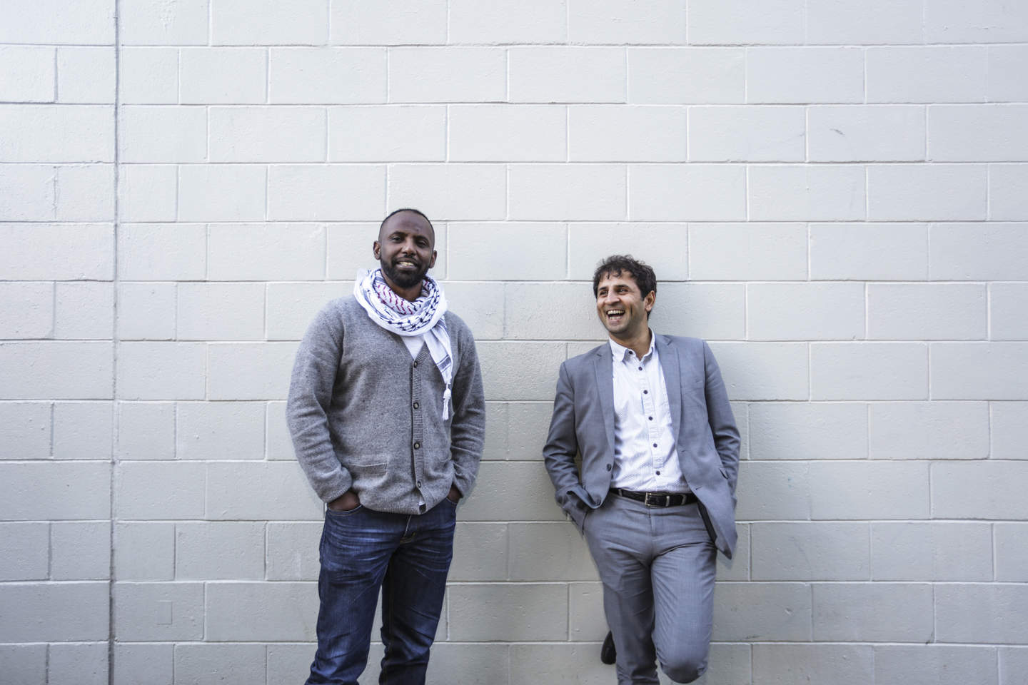Ibriham Omer, left, and Ali Mazraeh have both lived in New Zealand for about a decade and are now members of the ChangeMakers Forum - an advocacy group for refugees