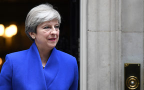 Britain's Prime Minister and leader of the Conservative Party Theresa May leaves 10 Downing Street in central London on June 9, 2017, en route to Buckingham Palace to meet Queen Elizabeth II,