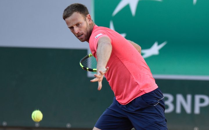 Michael Venus  during the French Open Men's Doubles final.