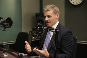 Prime Minister Bill English in RNZ's Auckland studio.