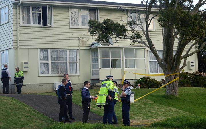 Police at scene of residential house fire in Otara
