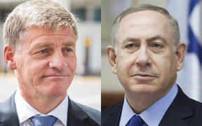 Bill English and Benjamin Netanyahu
