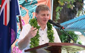 NZ's PM Bill English in the Cook Islands.