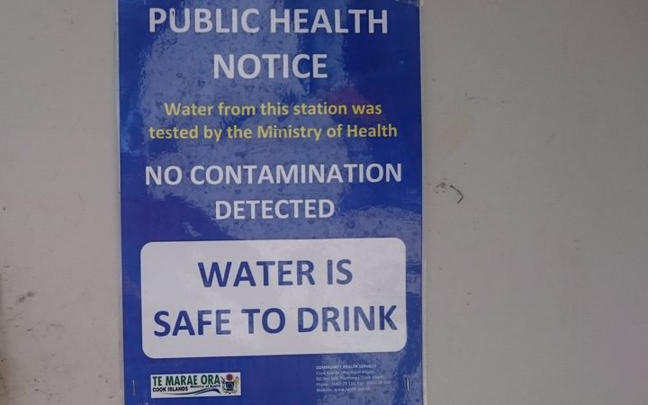 Cook Islands public water notice