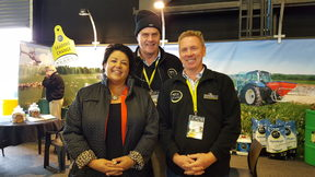 Paula Bennett with the team from AgriSea.