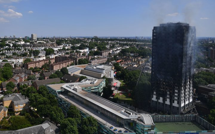 Grenfell Tower was left a burned-out husk after the blaze.