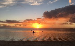Sunset as viewed from Saipan, the main island of the Northern Marianas.