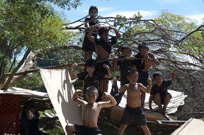 Students of Kimi Ora Community School, Flaxmere, Hastings.